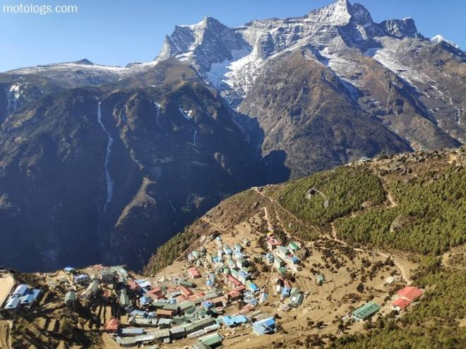Namche Bazar view from above in month of December