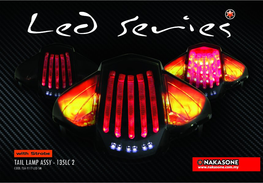 Yamaha Lagenda 115Z And 135LC V2 LED Tail Lamp With Strobe