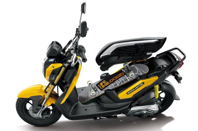 2013 honda zoomer x 110 fuel efficient tough scooter in. Black Bedroom Furniture Sets. Home Design Ideas