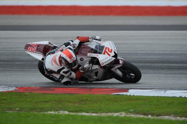 Yuki Takahashi was fastest on Day Three during the ARRC pre-season test
