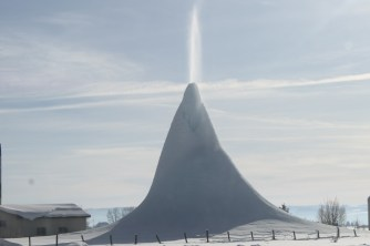 Snow Volcano? Outside of Afton
