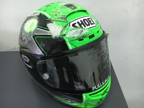 Laverty Helmet Crash