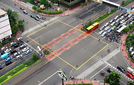 Yellow Box Junction Thamrin Sarinah jakarta