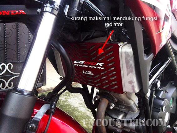cover radiator CB150R 11