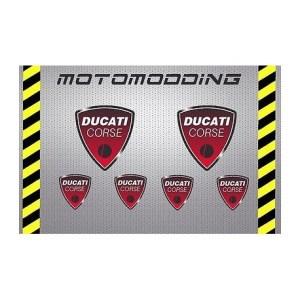 pegatinas-ducati-corse Adhesivos Ducati,Pegatinas exclusivas de Ducati o para Ducati, Vinilos para llantas Ducati, Pegatinas Ducati Corse y una gran variedad de adhesivos para motos Ducati Monster 696, 796, 1100 y 1100Evo
