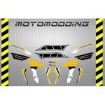 pegatinas-yamaha-mt-07-aniversario Pegatinas motocicleta Yamaha Mt 07 carenado guardabarros colín...