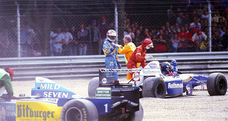 Michael Schumacher and Damon Hill in Italy 1995