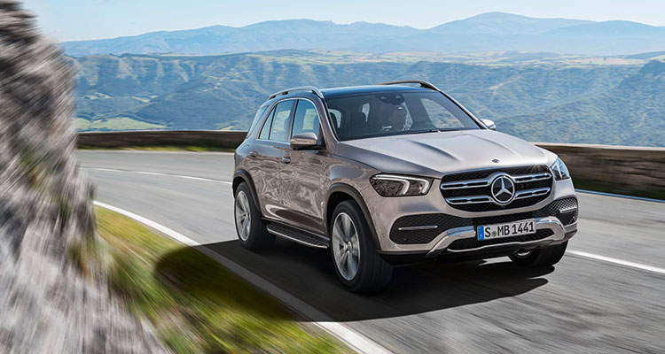 New Mercedes GLE 2019 front side 10