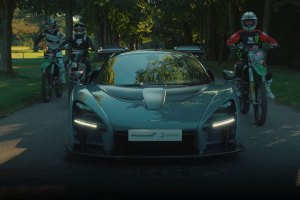 McLaren Senna vs motorcross race feature