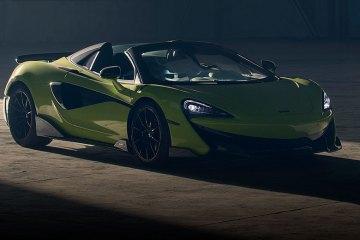 McLaren 600LT Spider Convertible front side feature