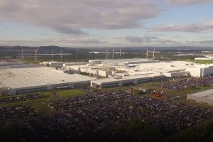 Nissan Sunderland Plant from air feature