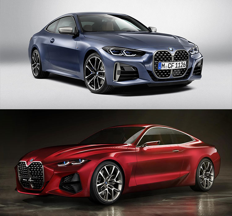 New 2020 BMW 4 Series - blue and red concept