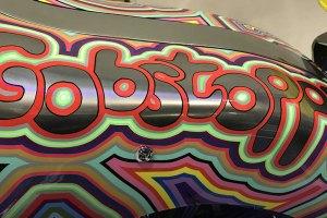 Artist Grayson Perry's Customised Harley Davidson