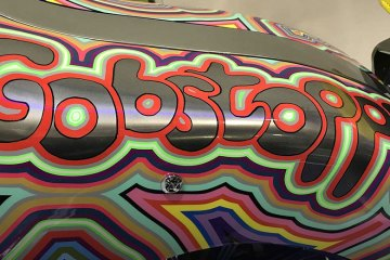 Artist Grayson Perry's Customised Harley Davidson