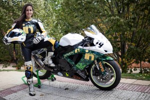 La piloto de motociclismo Cristina Juarranz