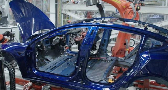 Fabricación Tesla Model 3