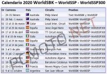 Calendario del Campeonato del Mundo de Superbikes 2020