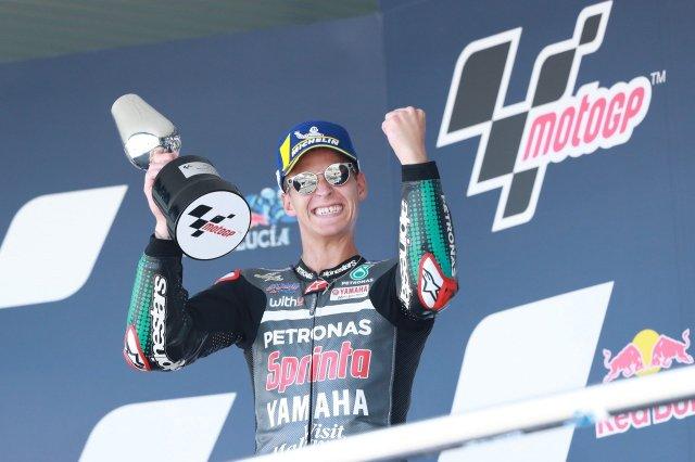 Fabio Quartararo celebra la victoria en Jerez