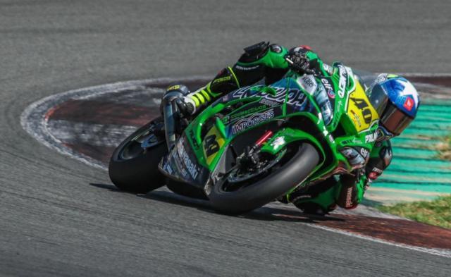 Román Ramos durante el ESBK en el Circuit Ricardo Tormo