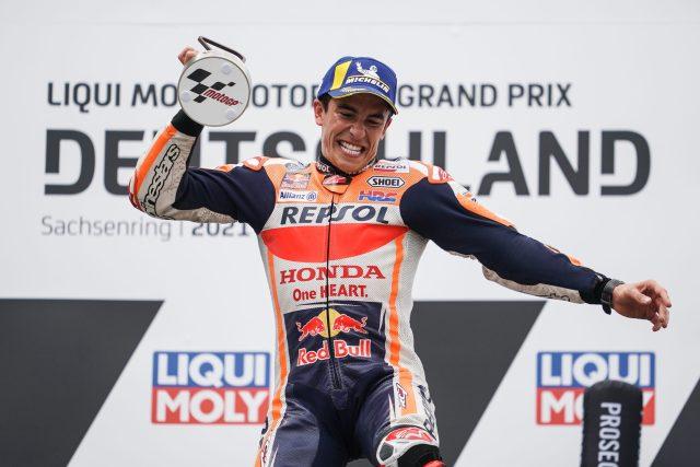 Marc Marquez 2021 alemania podio