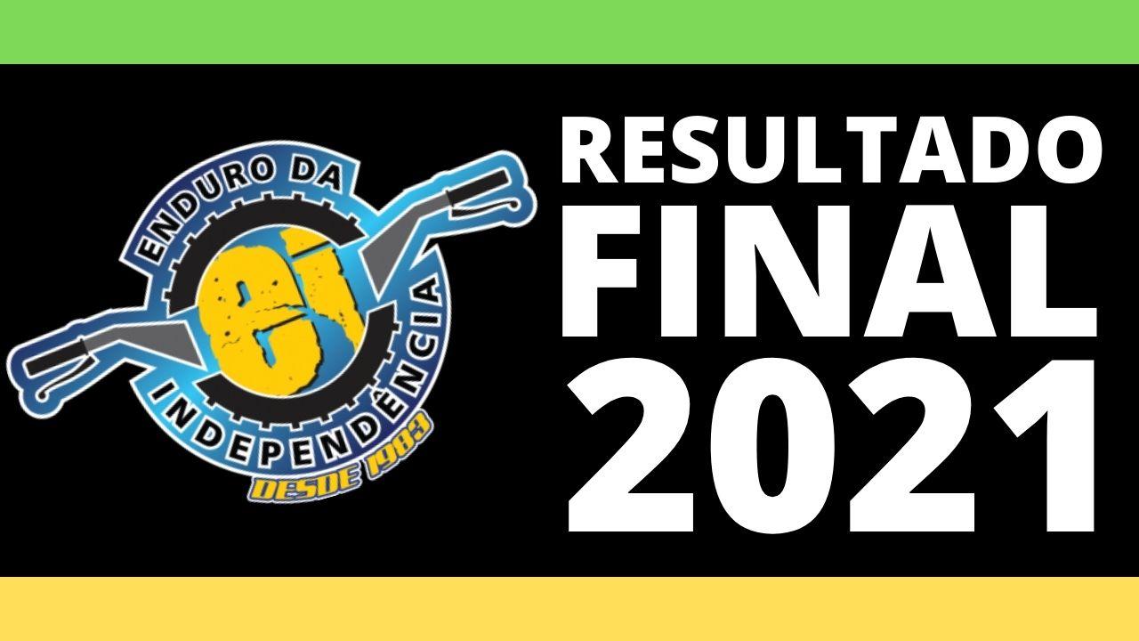 EI 2021, Resultado FINAL de todas as CATEGORIAS!