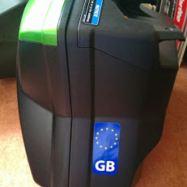 GB sticker on
