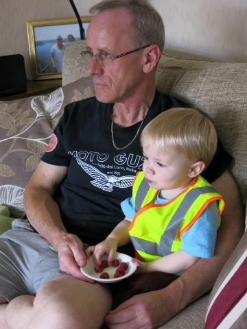 Tony & Daniel watch the Moto GP