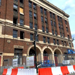 Adaptive reuse comes to the firehouse across from Cobo Hall.