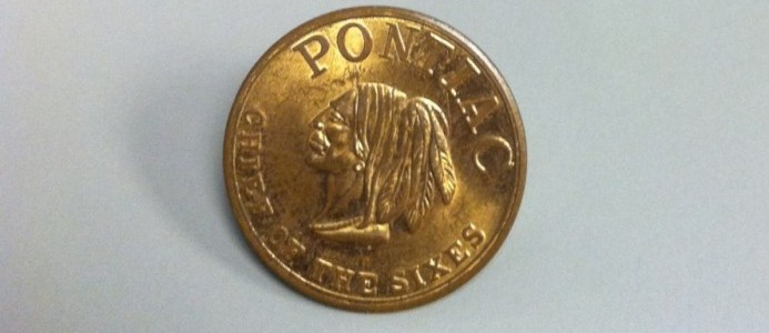"1950's Pontiac ""Chief of The Sixes"" Coin"