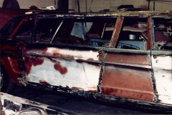 1966 Ford Mustang Limo Welding