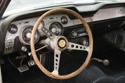 Barn Find 1967 Shelby Mustang GT500 Steering Wheel Dash