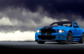 2013 Shelby GT500 Grabber Blue 650 HP 200 MPH Motor City