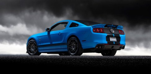 2013 Shelby GT500 Grabber Blue 650 HP 200 MPH Rear Motor City