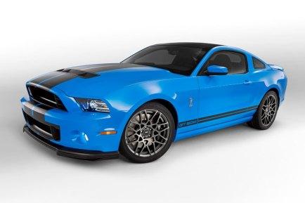 2013 Shelby GT500 Grabber Blue 650 HP 200 MPH Side Motor City