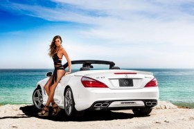 Vitamin A by Amahlia Stevens SL63 AMG Mercedes-Benz Fashion Week SWIM Supermodel Bikini