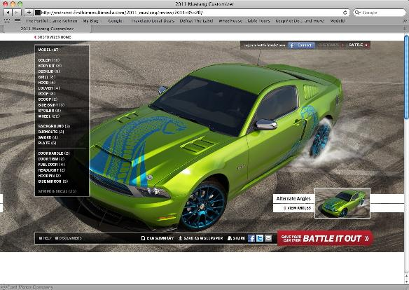Ford Mustang Customizer App Available For Ipad Iphone And Android