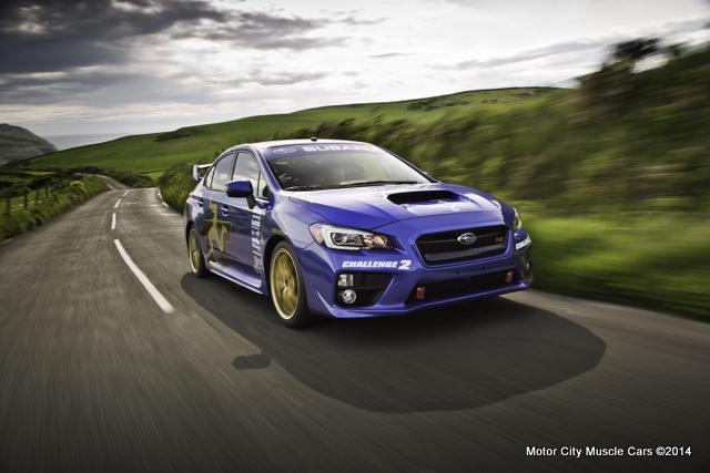 2015 SUBARU WRX STI Sets Isle of Man Lap Record at 117.5 MPH b