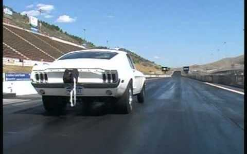 Watch A 1968 Mustang Cobra Jet Launch Hard At The Strip!