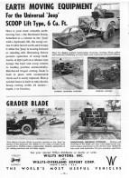 Jeep CJ Earth Moving Grade Blade PTO Farm Implements