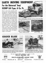 Jeep CJ Earth Moving Grade Blade PTO Farm Implements