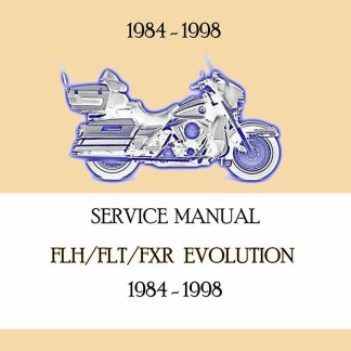 1984-1998 Touring & FXR Models Service Manual