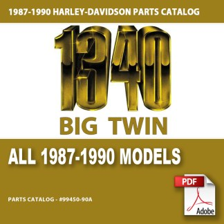 1987-1990 All 1340cc Models Parts Catalog