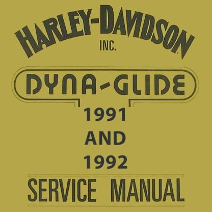 1991-1992 Dyna Models Service Manual
