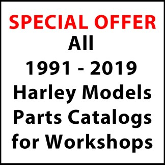 All 1991-2019 Harley Davidson Models Parts Catalogs for Workshops