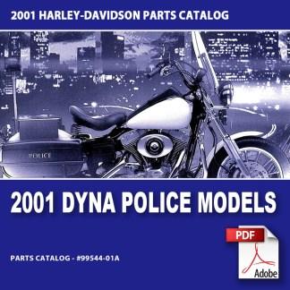 2001 Dyna Police Models Parts Catalog