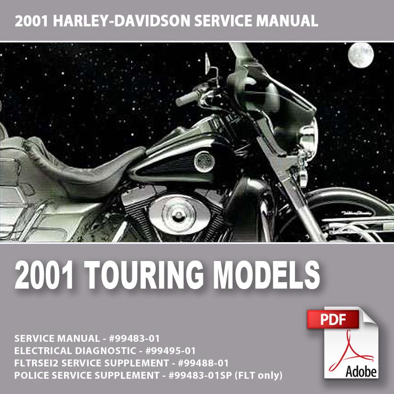 2001 Touring Models Service Manual 99483 01 Motorcycle Manual Download