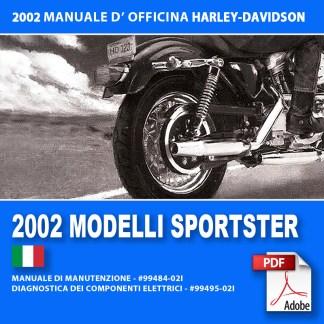 2002 Manuale di manutenzione modello Sportster