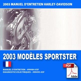 2003 Manuel d'entretien des modèles Sportster
