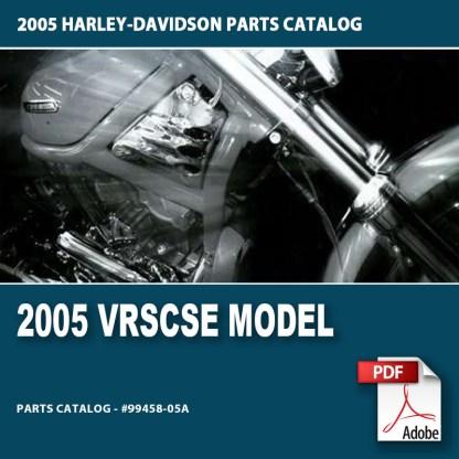 2005 VRSCSE Model Parts Catalog #99458-05A