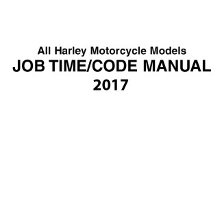 2017 Harley Job Time/Flat rate/Code Manuals
